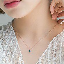 53314锁链形, 单层链, 平面/立体几何图形, 其他形状锁链 水滴形 整件925银