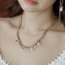 53358锁链形, 单层链椭圆形 珠子 流苏