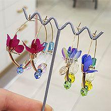53415耳圈耳扣, 植物花 珠子