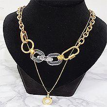 53419锁链形, 多层链锁链 圆形 两件套