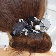 53457发圈发绳, 蝴蝶结, 植物蝴蝶结 花 珍珠 珠子 大肠发绳