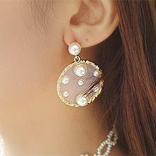 53513耳钉式珍珠 珠子 凹凸不平 透明