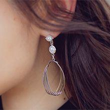 53553耳钉式不对称 珠子 水滴形 椭圆形 珍珠