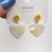 53557耳钉式, 心形心形 笑脸