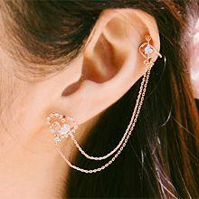 53585耳钉式, 耳夹心形 耳夹 箭 不对称