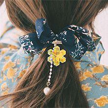 53590发圈发绳, 发梳插梳, 蝴蝶结, 植物蝴蝶结 花 珍珠 珠子
