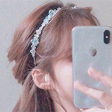 53472发箍发带, 植物花 珠子 发箍 纯色
