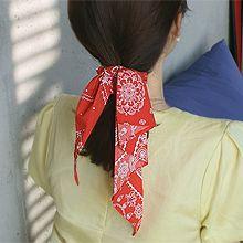 53484发圈发绳, 蝴蝶结, 植物蝴蝶结 花纹 大肠发绳 水滴形 长方形