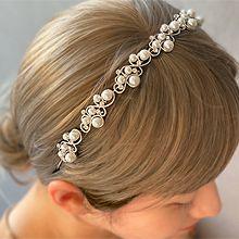 53576发箍发带珍珠 珠子 发箍 波浪