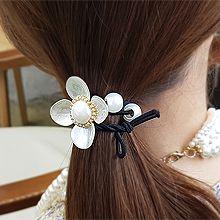 53607发圈发绳, 蝴蝶结, 植物花 珠子 珍珠 蝴蝶结