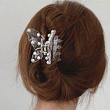 53623爪夹, 动物蝴蝶 珍珠 珠子 透明