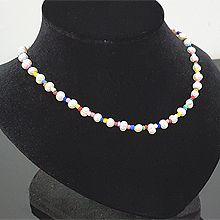 53629穿珠链, 单层链天然珍珠 珠子