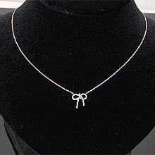 53659锁链形, 穿珠链, 蝴蝶结蝴蝶结 整件925银