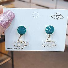 53664耳钉式圆形 缠绕 珠子