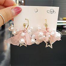 53692耳圈耳扣, 蝴蝶结, 天体自然现象星星 蝴蝶结 珠子 珍珠