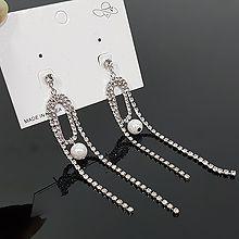 53806耳钉式椭圆形 流苏 珍珠 珠子