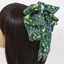 53744边夹顶夹, 植物花 蝴蝶结 珍珠 珠子 弹簧夹