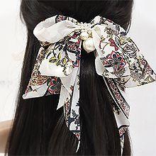 53814边夹顶夹, 蝴蝶结, 植物蝴蝶结 花 珍珠 珠子 弹簧夹