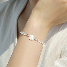 53788穿珠链, 单层链, 心形心形 珠子 天然珍珠
