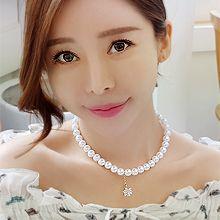 53640穿珠链, 单层链花 锆石球 珍珠 珠子