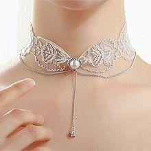 53747绳子形, 单层链, 天体自然现象蕾丝 珍珠 珠子 星星 明星款