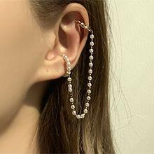 53895耳夹C形 珍珠 珠子 耳夹