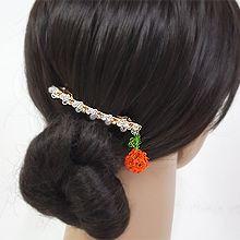 53857边夹顶夹, 植物弹簧夹 草莓 珠子 叶子