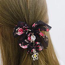 53953发圈发绳, 发梳插梳, 蝴蝶结, 植物蝴蝶结 花 珍珠 珠子