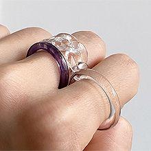 53862透明 三件套 锁链形 椭圆形
