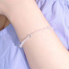 53868穿珠链, 单层链珠子 圆形 透明