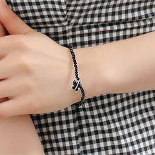 53876穿珠链, 单层链, 动物蝴蝶 珠子