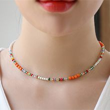 53860穿珠链, 单层链珠子 圆形 珍珠
