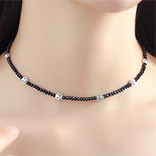 53866穿珠链, 单层链笑脸 圆形 珠子
