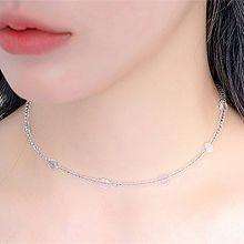 53867穿珠链, 单层链圆形 珠子 透明