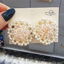54007耳钉式珠子 珍珠 圆形