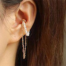 54024耳钉式珍珠 珠子 椭圆形 耳夹 磁铁