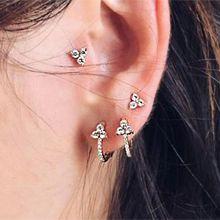 54067耳钉式, 植物六件套 C形 花 三角形