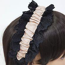 54002发箍发带蕾丝 褶皱 发箍
