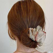 54019发箍发带, 发簪, 植物花 褶皱 盘发