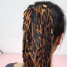 54090发圈发绳, 蝴蝶结大肠发绳 褶皱 豹纹 圆点 蝴蝶结 条纹