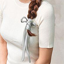 54094发圈发绳, 蝴蝶结蝴蝶结 纯色 盘发