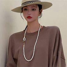 54183穿珠链, 单层链珍珠 珠子 长款
