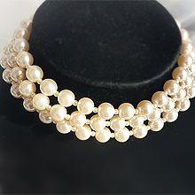 54789穿珠链, 多层链三层 珠子 珍珠