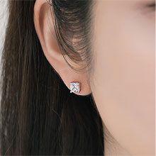 54851耳钉式, 平面/立体几何图形, 其他形状四边形  方形