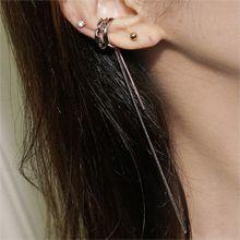 54887耳圈耳扣, 耳夹, 平面/立体几何图形, 其他形状耳夹 C形 圆环  流苏 波浪 长方形 蛇链