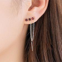 54906耳钉式圆形 整件925银
