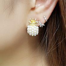 54920耳钉式, 植物菠萝 珍珠 珠子