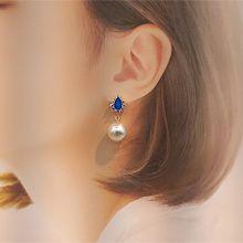 54933耳钉式水滴形 珍珠 珠子