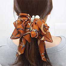 54973边夹顶夹, 蝴蝶结蝴蝶结 绳子 珍珠 珠子 弹簧夹