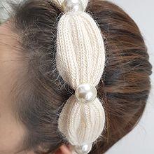 54788发箍发带发箍 编织 毛毛 珍珠 珠子
